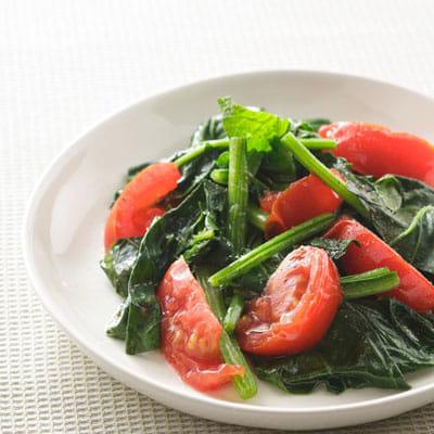 ほうれん草とトマトのソテー風(老けない、ボケないレシピ)  yomiDr. / ヨミドクター(読売新聞)