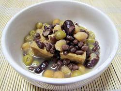 食物繊維たっぷり厚揚げと色々お豆煮