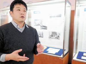 「東北大生の戦争体験」を企画した永田さん。「戦争は後世にしっかりと語り継ぐべきだ」と話す(仙台市で)